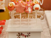 pink cake pops for a royal princess party