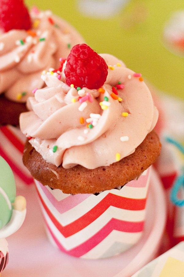 Pink Raspberry Cupcake