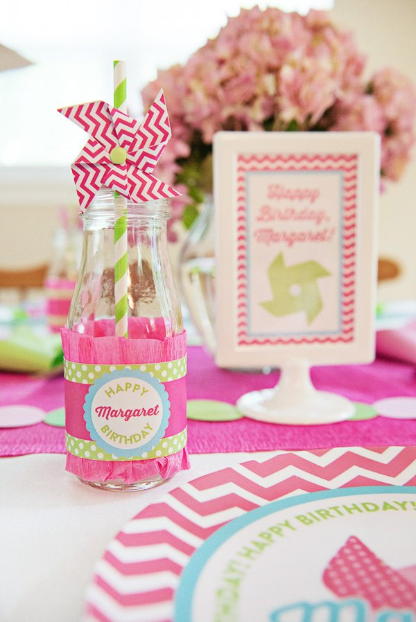 pink pinwheel party