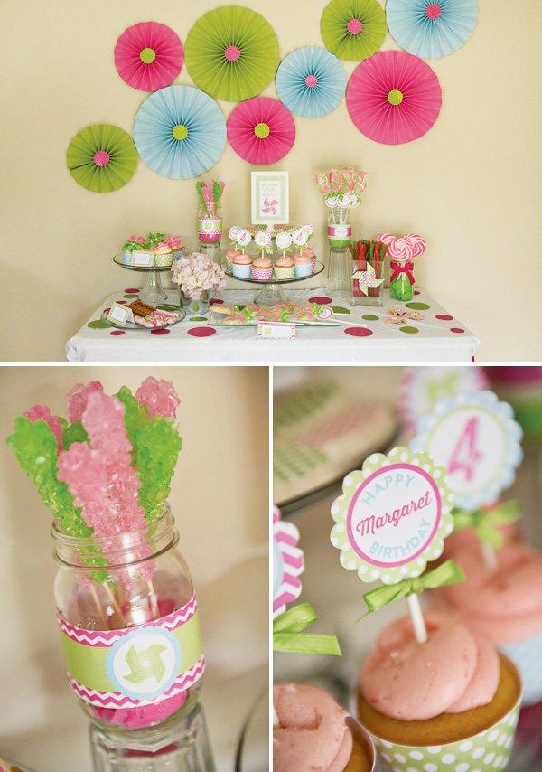 pinwheel dessert table