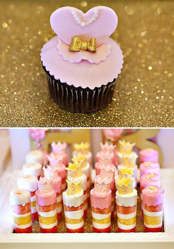 princess crown desserts