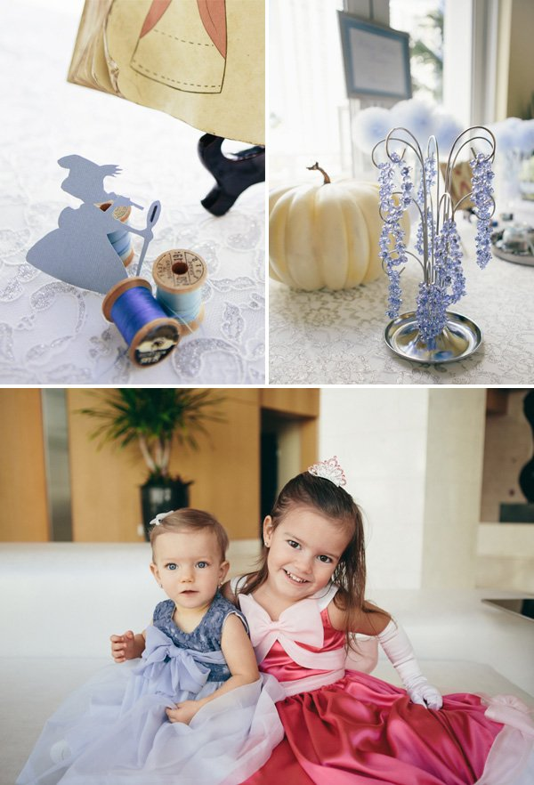 princess dresses, sewing mice, and cinderella pumpkin