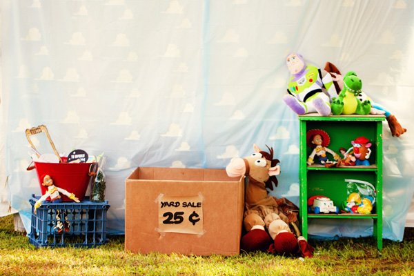 yard sale toy story props