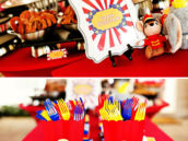 red yellow and blue carnival color palette