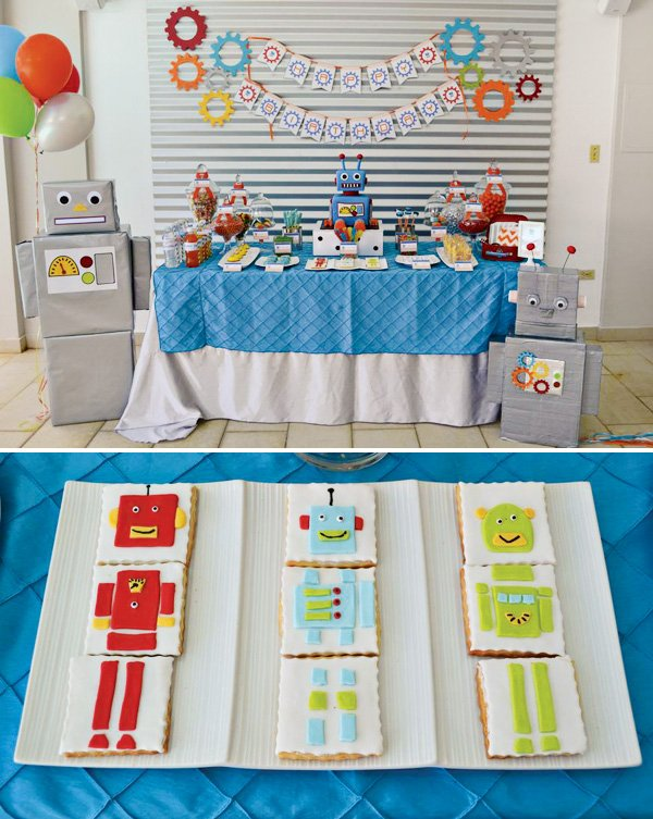 robot dessert table