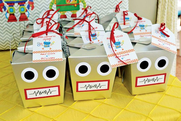 robot favor boxes