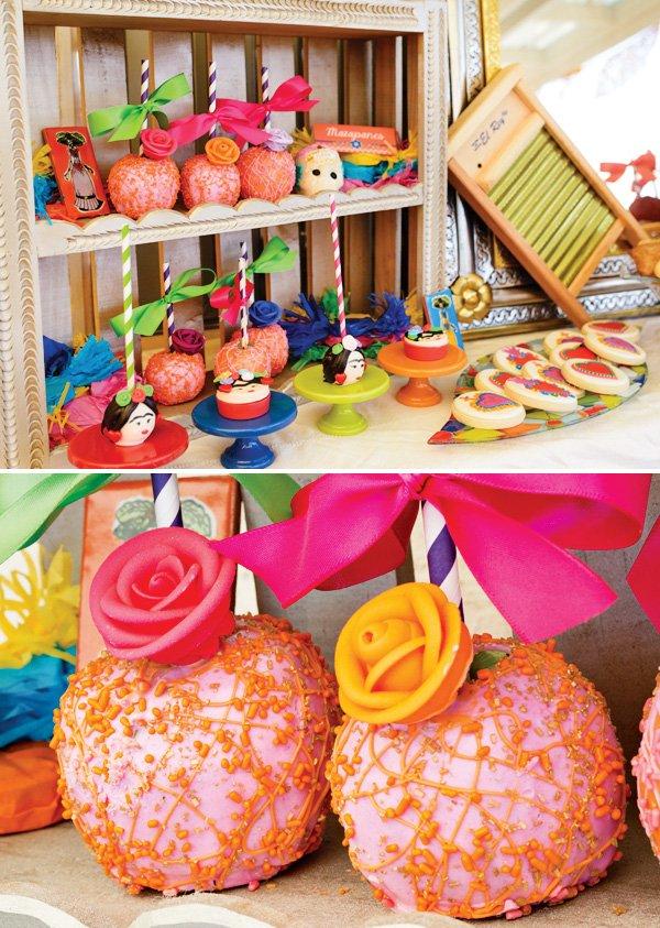 rose embellished apple pops