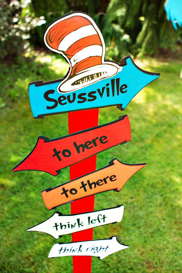 Dr. Suess suessville party sign