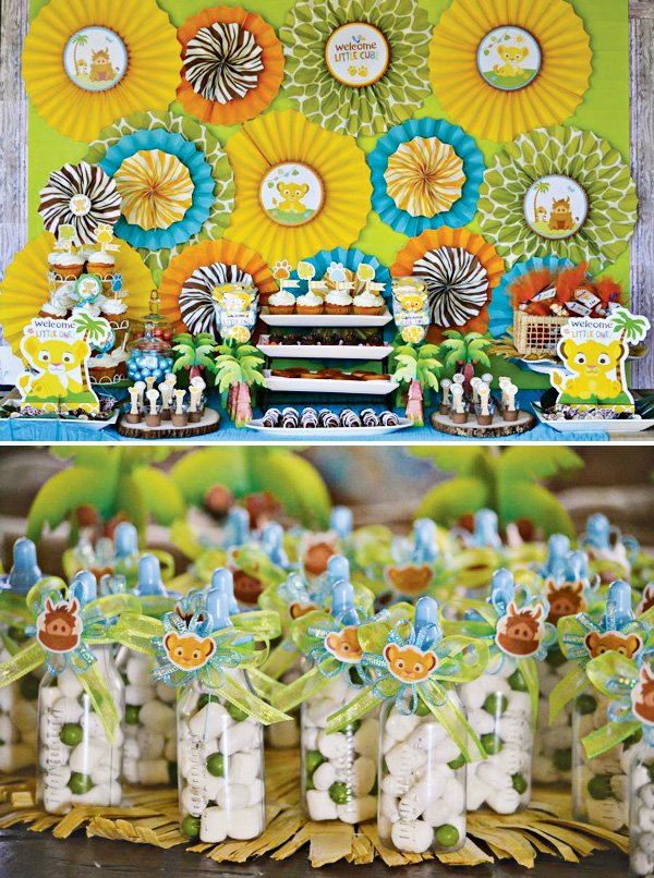 Safari Inspired Lion King Baby Shower // Hostess with the ...