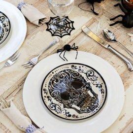 skull-halloween-dinner-plates