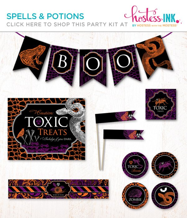 spells and potions Halloween party printables collection