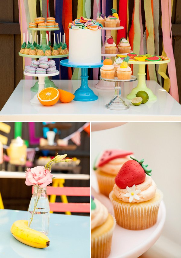 tutti frutti dessert table
