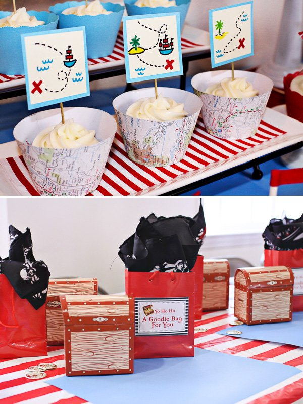 treasure chest favors boxes for a pirate party
