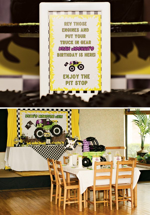 truck themed birthday party