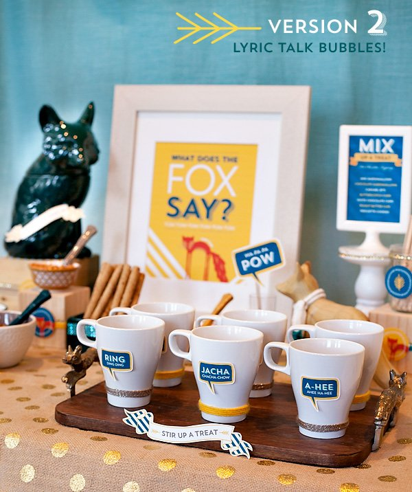 what does the fox say inspired hot chocolate station