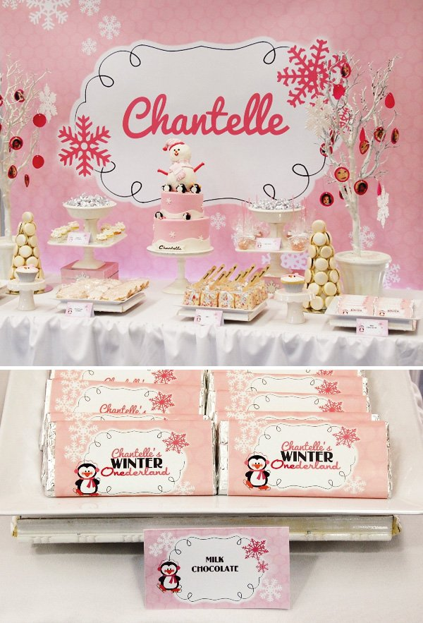 Precious & PINK Winter ONEderland Party // Hostess with the Mostess®