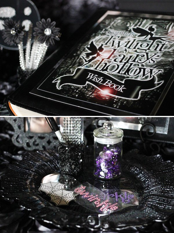 wishing book for a fairy party