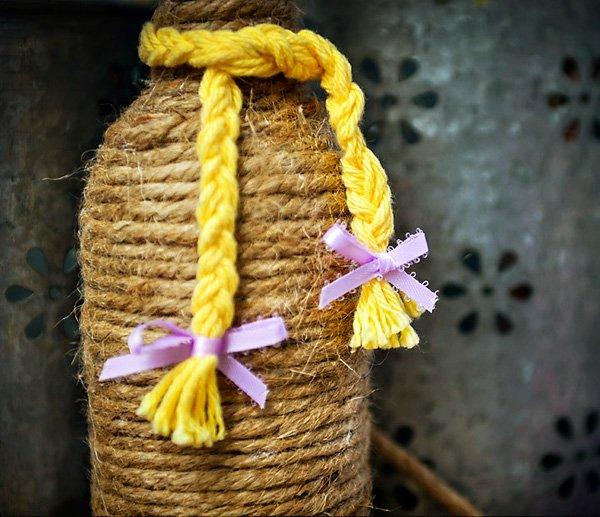 yellow yarn braid