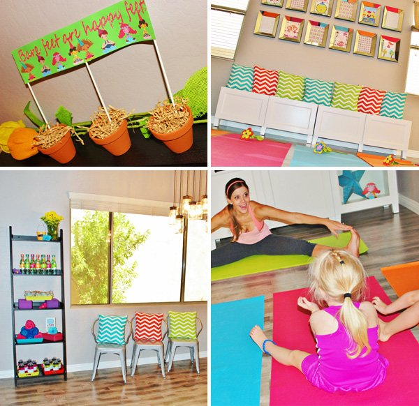 yoga party theme