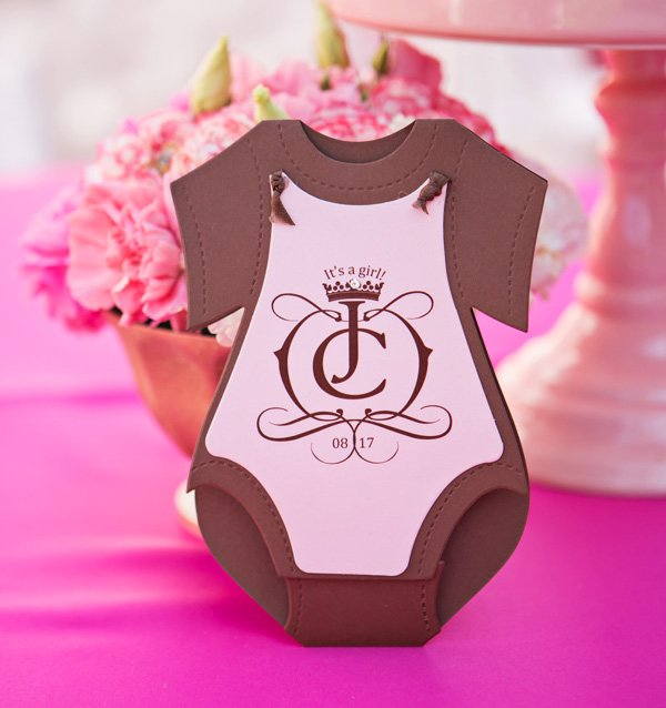 baby onesie invitation