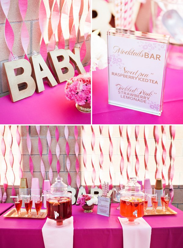 mocktail drinks table