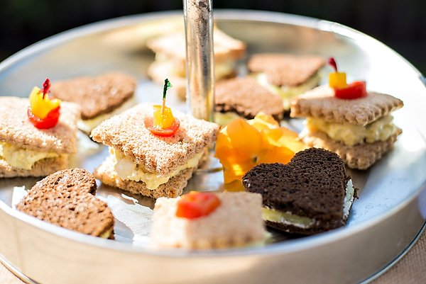 pretty baby shower tea sandwiches