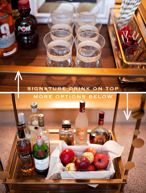 bar cart party styling tips simple spiced fall cocktail hostess with the mostess