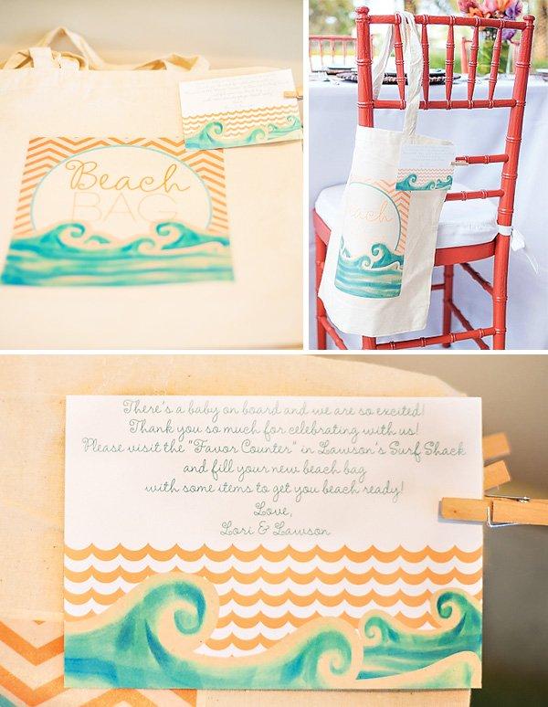 custom printed beach bag tote favors