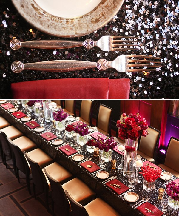Dramatic & Glamorous Dinner Party {30th Birthday