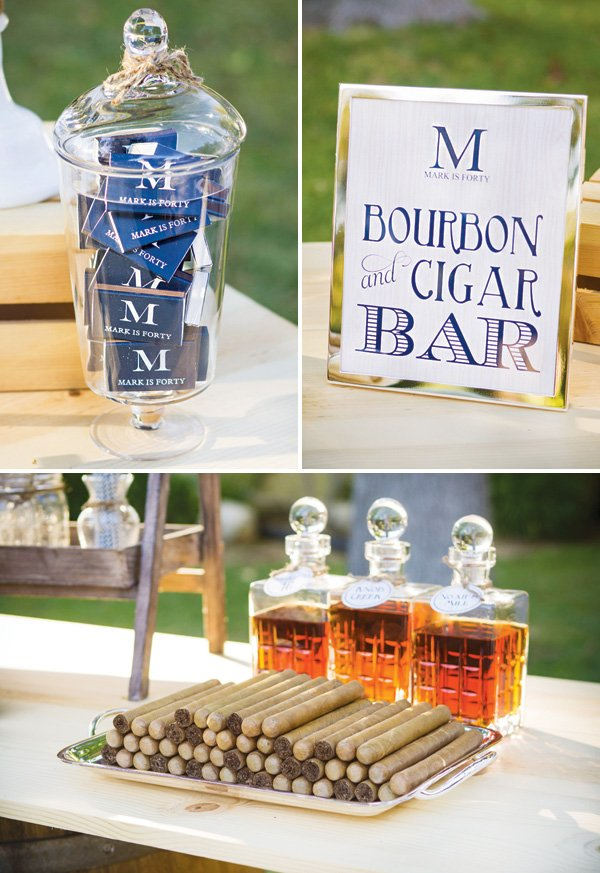 bourbon and cigar tasting bar