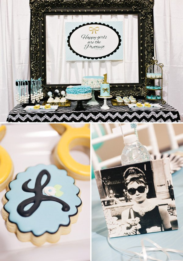 breakfast at tiffanys dessert table