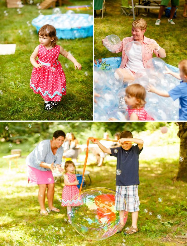 kids playing in a pit of bubbles and other fun birthday activities