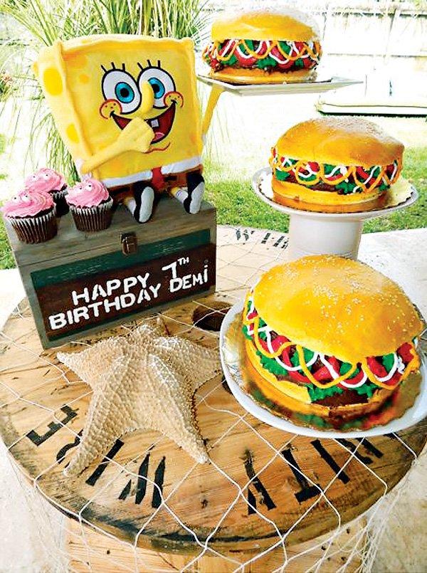 sponge bob krabby patty cake
