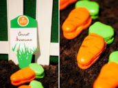 carrot shaped macarons
