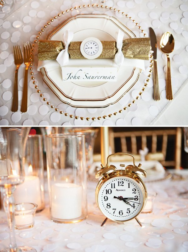 Gorgeous Gold & White New Year\'s Eve Party // Hostess with the Mostess®
