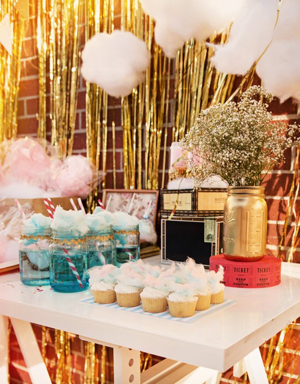 cotton candy dessert table