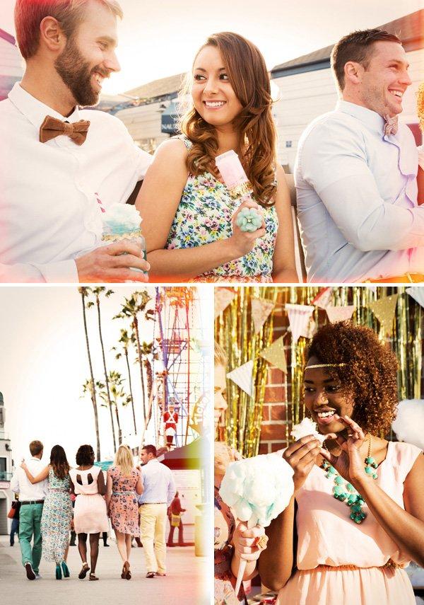 cotton candy retro carnival