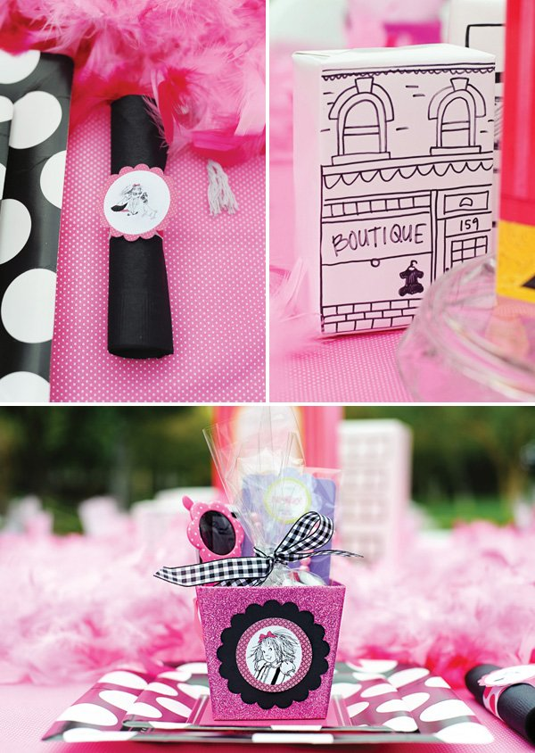 eloise themed black and pink party printables and decor