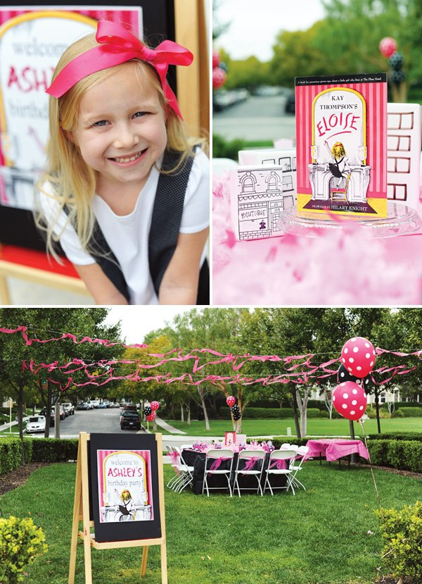 eloise the book series themed birthday party