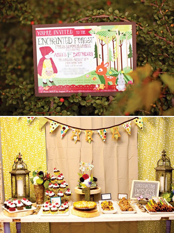 enchanted forest party invitation