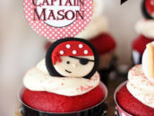 fondant pirate cupcake toppers for a birthday party