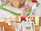 gingerbread house decorating station