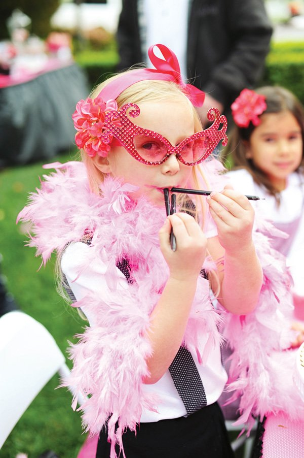 girly pink party costume and accessories