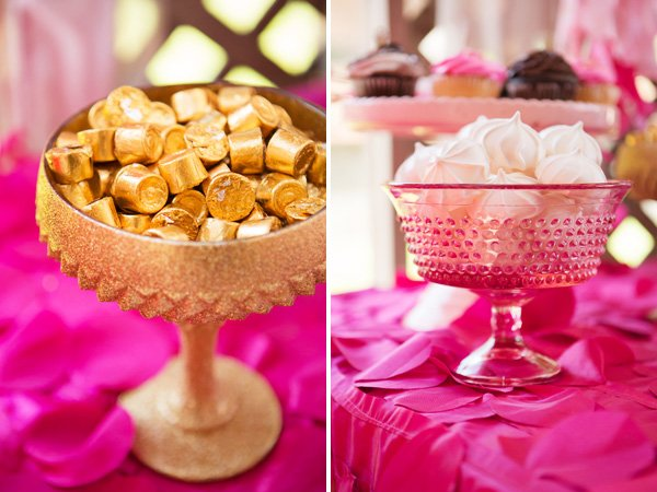 rolo and meringe candy goblets