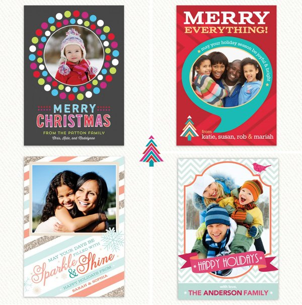 Modern Holiday Photo Cards from Hostess INK