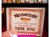 hot dog themed birthday party photo album
