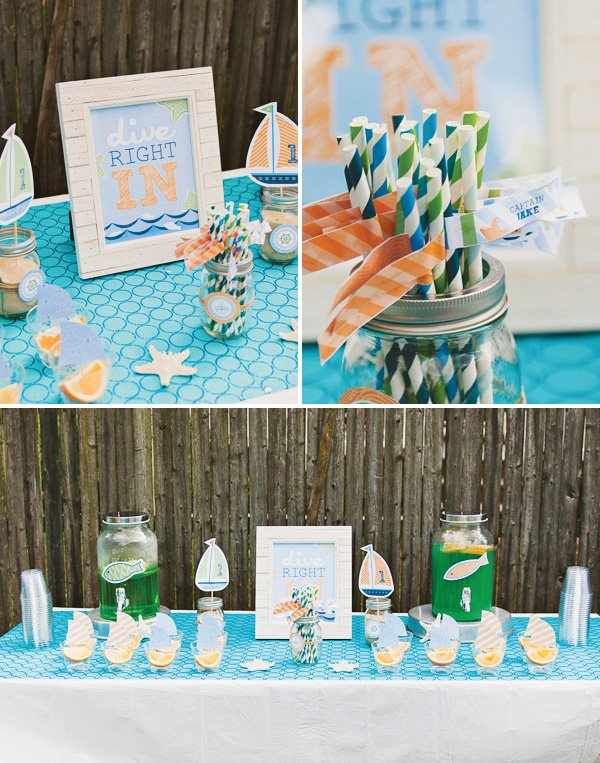 dive in drink station for a little sailor party