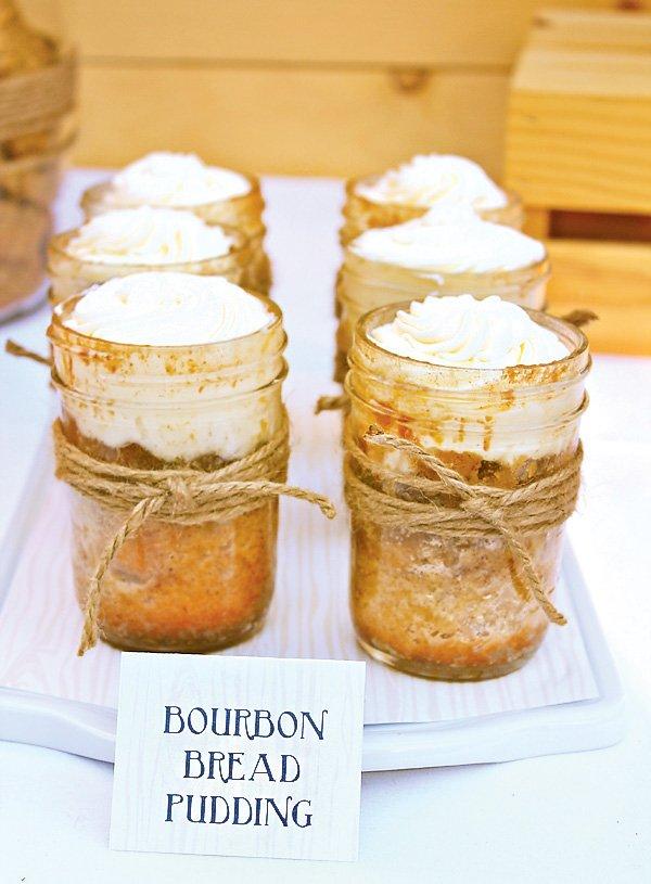 individual bourbon bread puddings