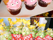 patrick cupcakes and green kelp popcorn