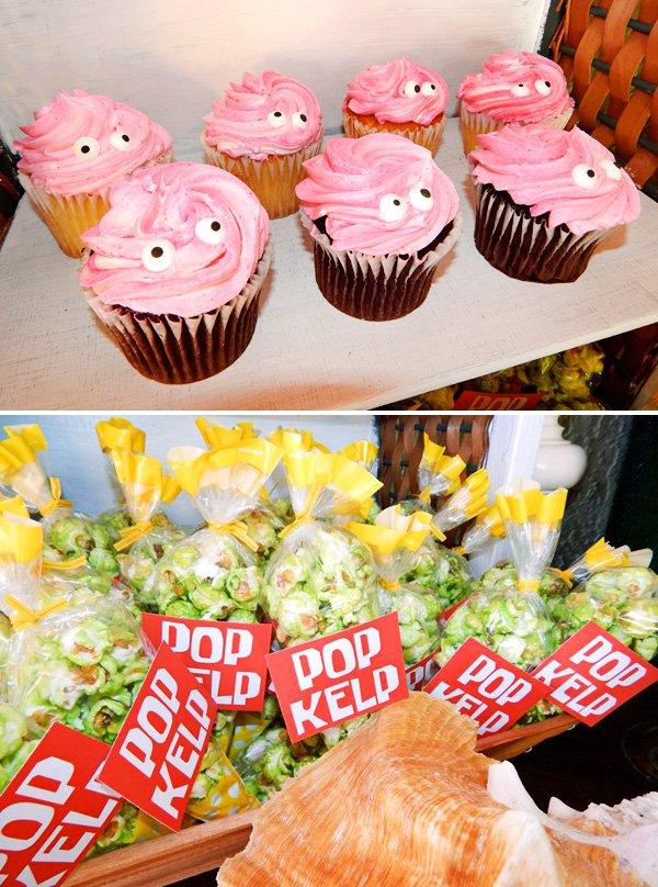 patrick cupcakes and green kelp popcorn
